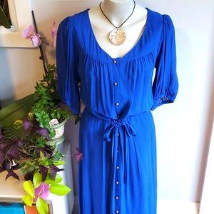 Anthropologie royal blue maxi dress, 8